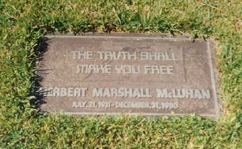 Tumba de Marshall McLuhan