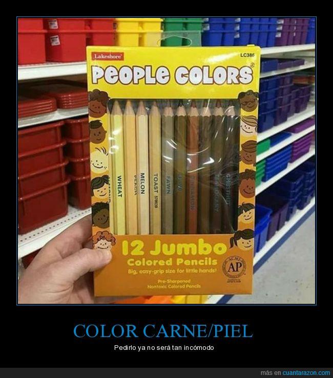Colores piel humana