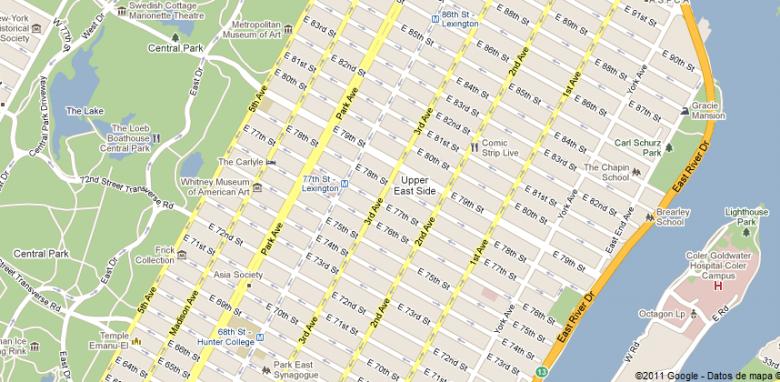 Calles numeradas en Manhattan, NYC