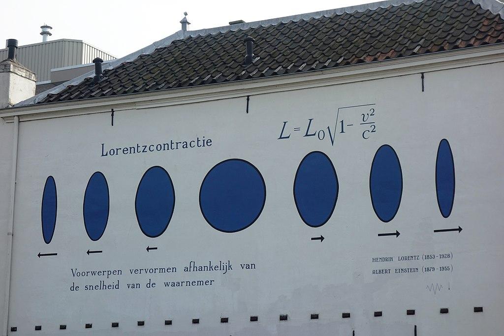 Contracción de Lorentz en una pared de Leiden