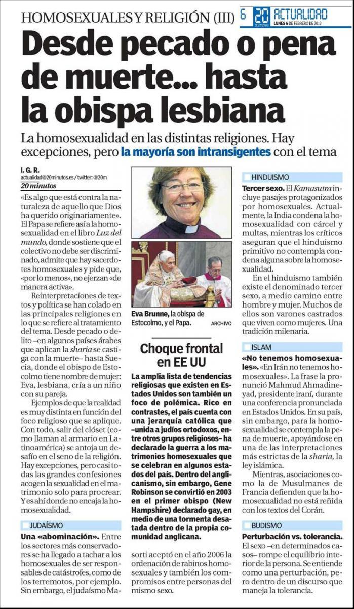 Periódico 20 Minutos 6 de Febrero de 2012 página 6